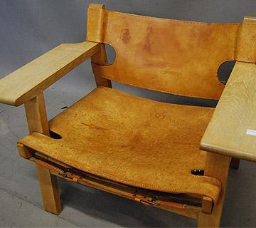 sold borge mogensen spanish chair 27d084 danish vintage modern