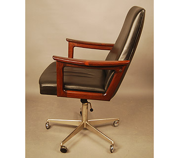 sold danish rosewood desk chair 15d079 danish vintage modern