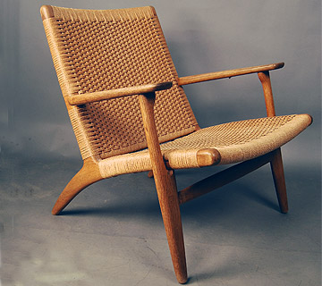 sold hans wegner ch25 easychair 20d078 danish vintage modern. Black Bedroom Furniture Sets. Home Design Ideas