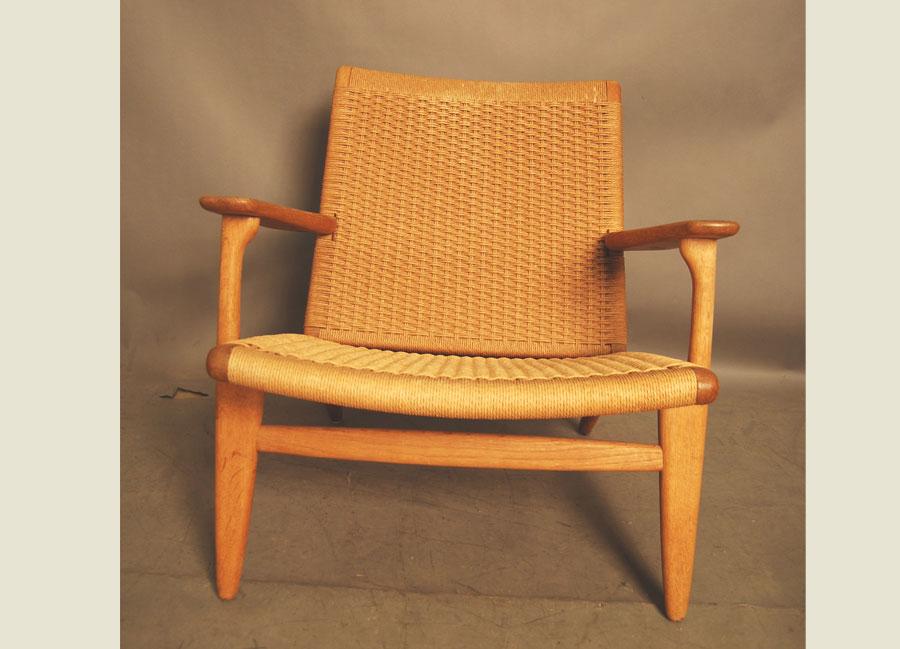 sold hans wegner ch25 easychair 28d045 danish vintage modern. Black Bedroom Furniture Sets. Home Design Ideas