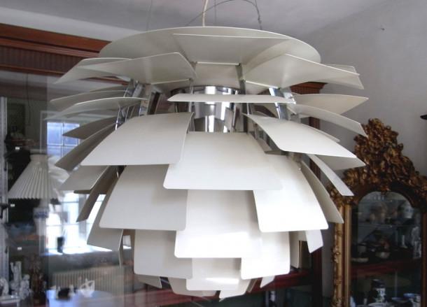 louis poulsen artichoke pendant 720mm 28d020 danish vintage modern. Black Bedroom Furniture Sets. Home Design Ideas