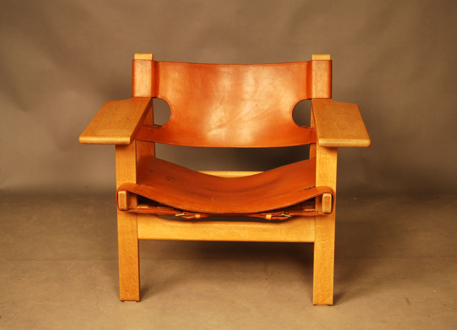 Sold Borge Mogensen Spanish Chair 27d085 Danish Vintage