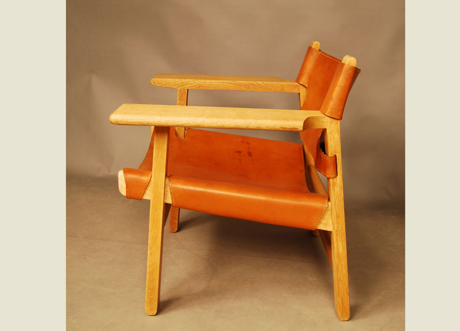 sold borge mogensen spanish chair 27d085 danish vintage modern