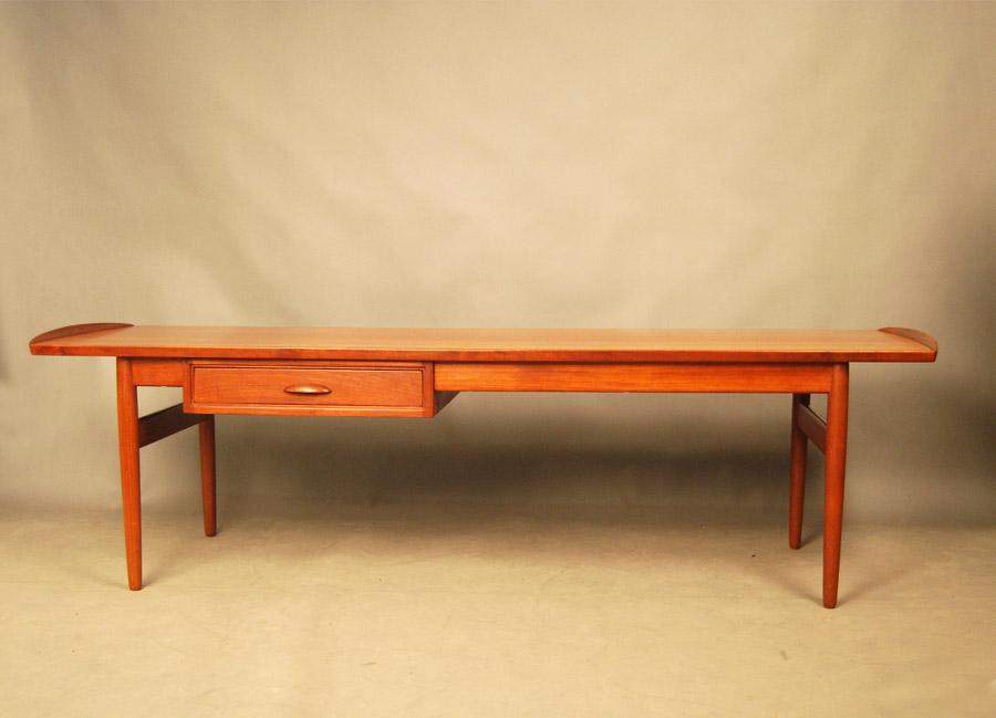 Sold Danish Teak Coffee Table With Drawer 27d137 Danish Vintage Modern
