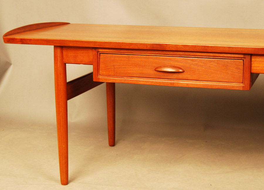 SOLD Danish teak coffee table with drawer 27D137 Danish