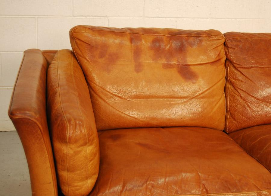 sold mogens hansen leather sofa 10d092 danish vintage modern