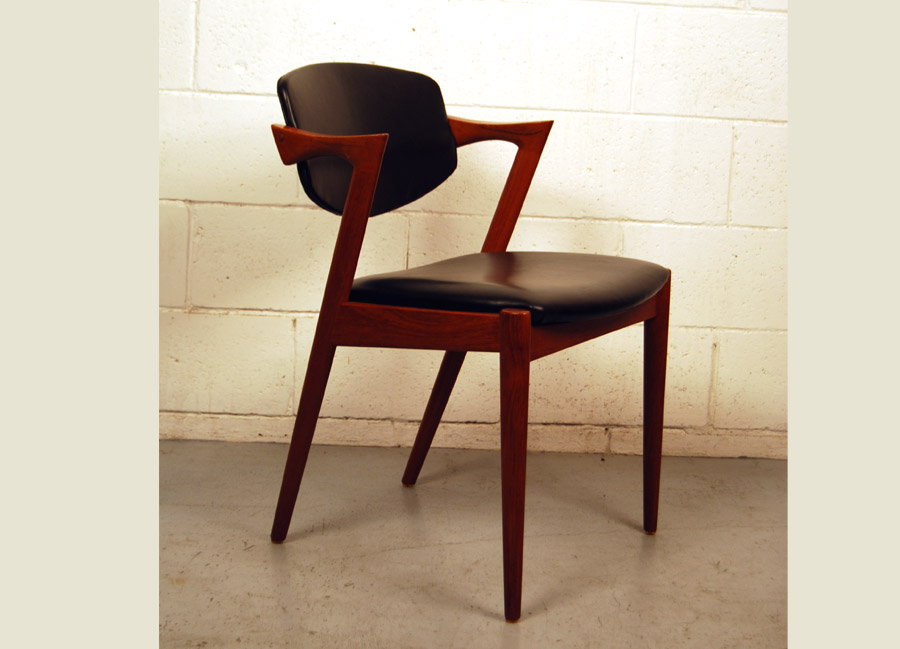 Sold kai kristiansen no 42 teak chair 31d144 danish vintage modern - Kai kristiansen chair ...