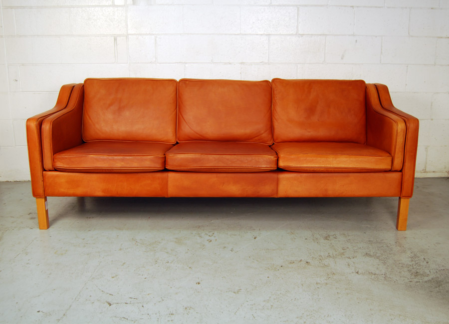 mogens hansen sofa SOLD Danish leather Mogens Hansen three seat sofa 31D001   Danish  mogens hansen sofa