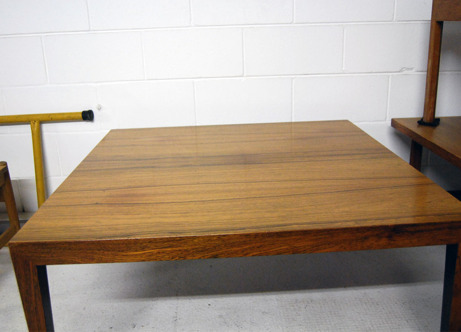 Danish Rosewood Square Coffee Table By Haslev 27d098 Danish