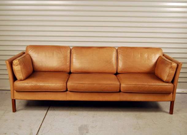 Sold Erik Jorgensen Tan Leather Sofa 30d024 Danish