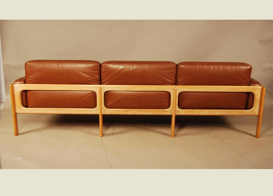Sold Danish Leather Sofa 27d142 Danish Vintage Modern