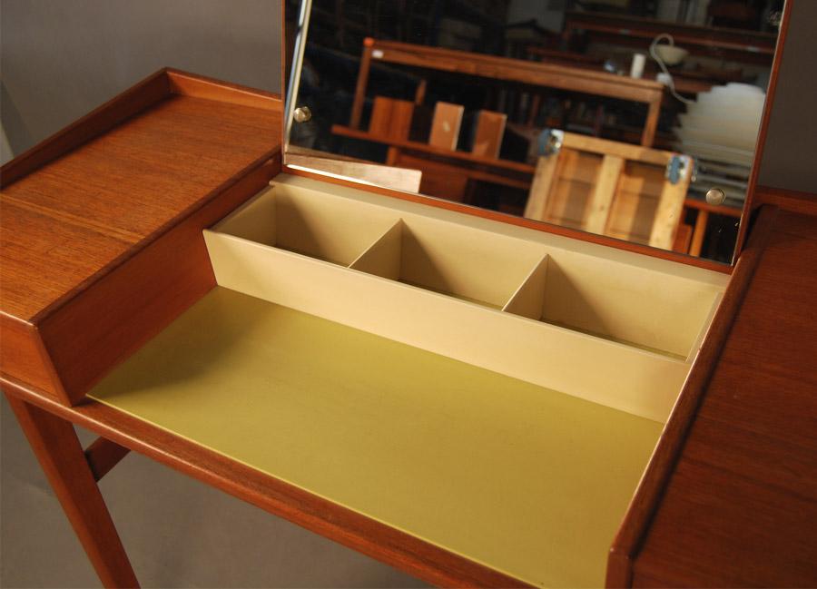 Sold Danish Teak Vanity Table 32d051 Danish Vintage Modern