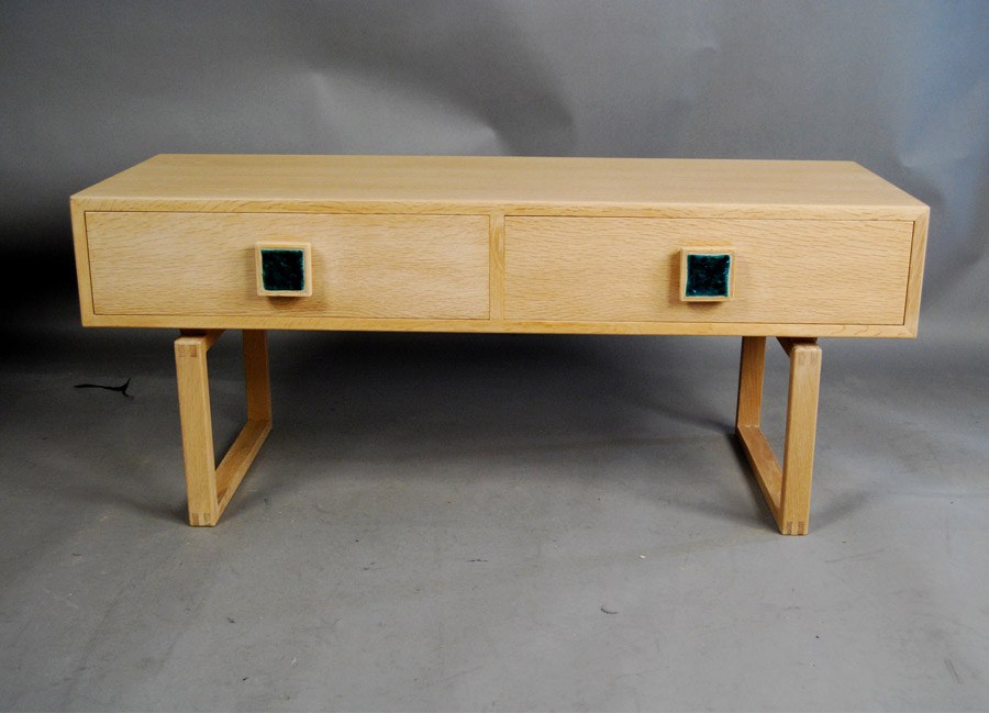 SOLD Danish low console table 33D024 Danish Vintage Modern