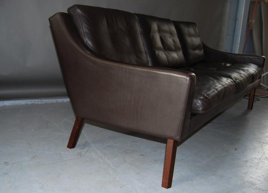 arne vodder leather sofa 34d060 danish vintage modern