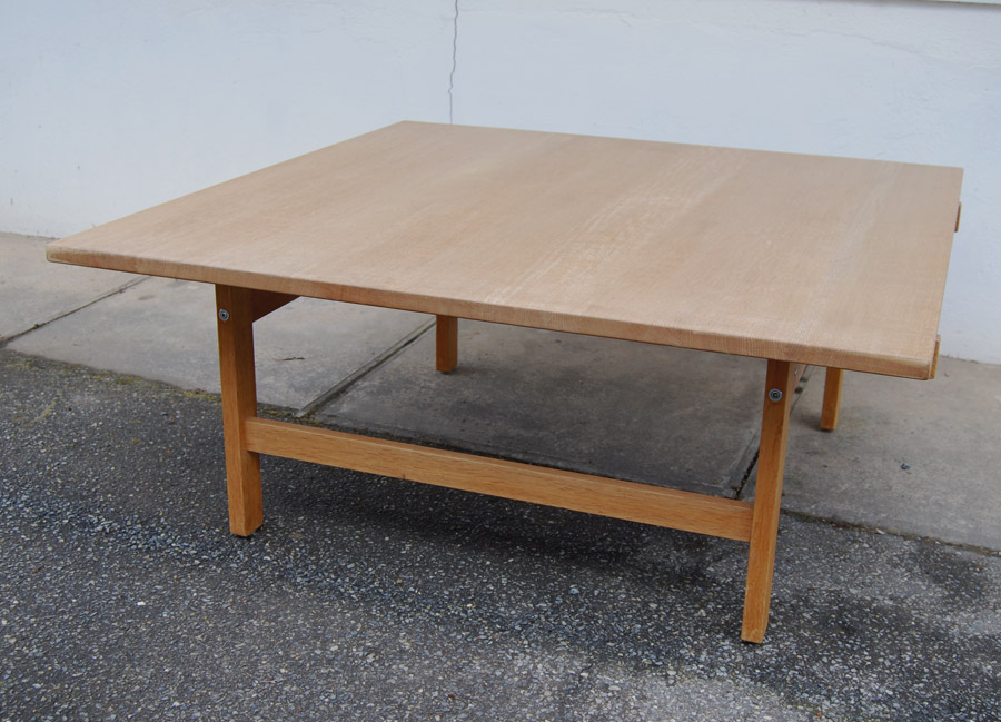 Sold Hans Wegner Square Oak Coffee Table 33d071 Danish Vintage Modern